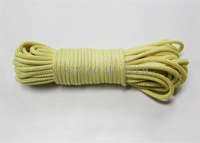 Aramid Fiber / Kevlar Heat Resistant Rope High Strength Fire Retardant